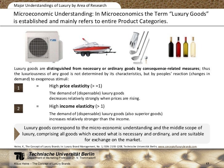 microeconomic project luxury vs necessity good Using knowledge of income elasticity of demand firms will make use of income elasticity of demand by producing more luxury goods during periods of economic growth in a recession with falling incomes, supermarkets might be advised to promote more 'value' inferior goods.