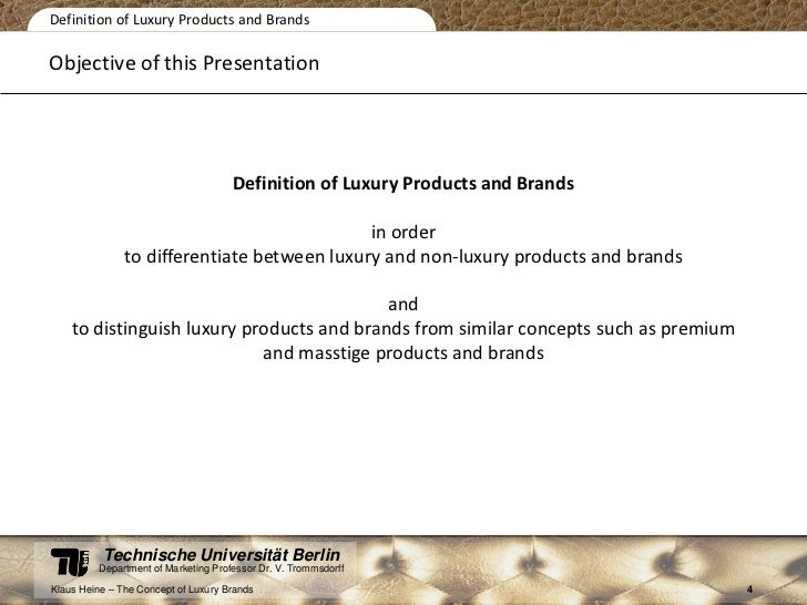 The concept of luxury brands essay