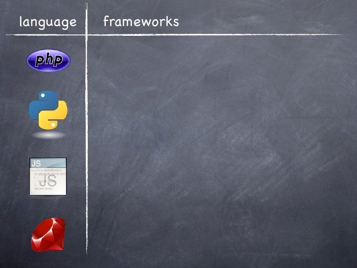 language   frameworks