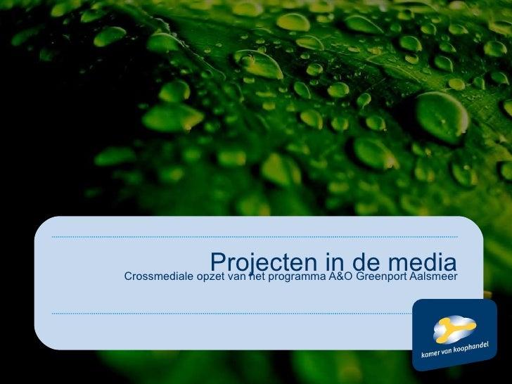 Crossmediale opzet van het programma A&O Greenport Aalsmeer Projecten in de media