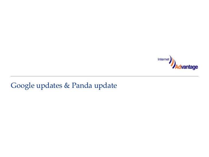 Google updates & Panda update