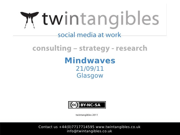 Mindwaves 21/09/11 Glasgow Contact us +44(0)7717714595 www.twintangibles.co.uk [email_address] twintangibles 2011 social m...
