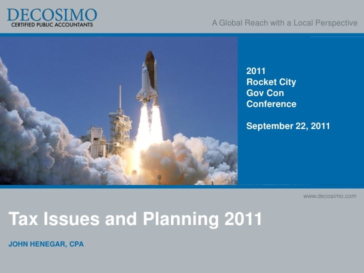 A Global Reach with a Local Perspective                               2011                               Rocket City      ...