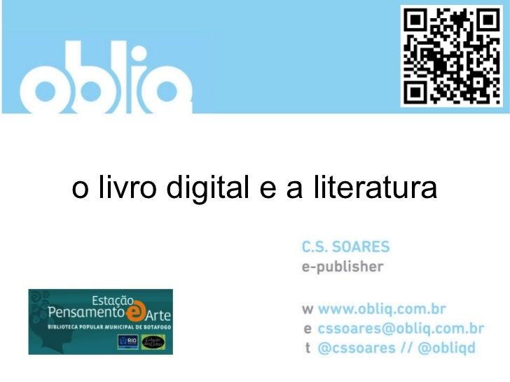 o livro digital e a literatura