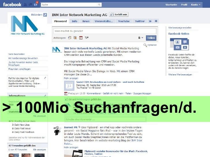 > 100Mio Suchanfragen/d.