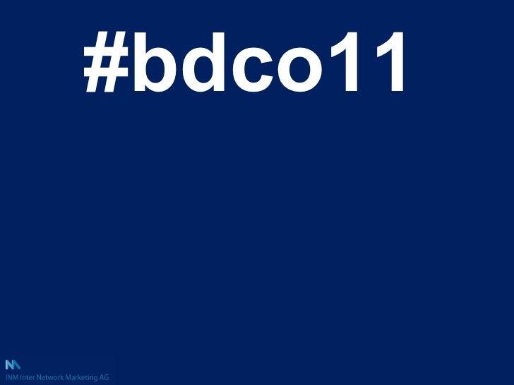 <ul><li>#bdco11 </li></ul>