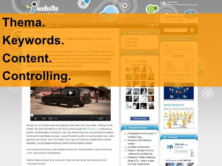 Thema. Keywords. Content. Controlling.