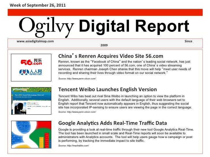 Week	  of	  September	  26,	  2011	                                                                            Digital Rep...