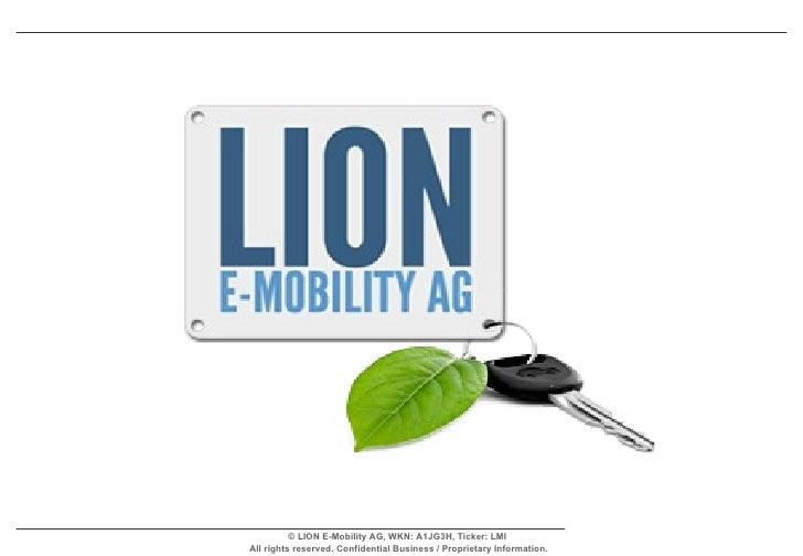 Lion E Mobility Ag