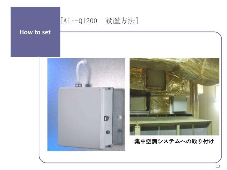 [Air-Q1200 設置方法]How to set                            集中空調システムへの取り付け                                             13