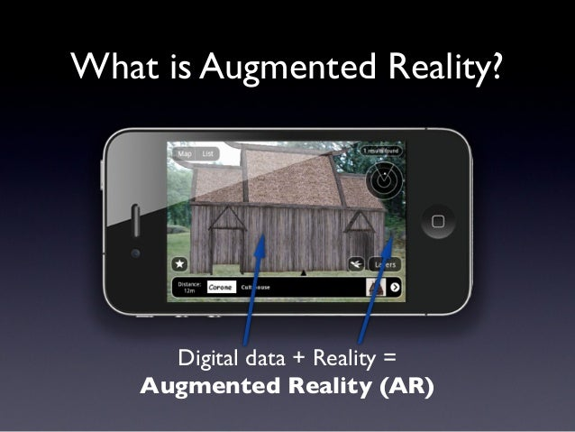 What is Augmented Reality? Digital data + Reality = Augmented Reality (AR)