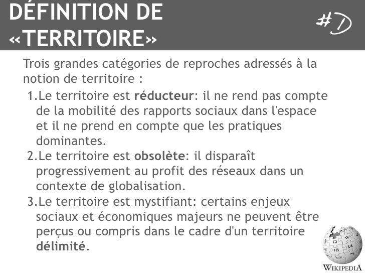 Activneurones destination notion de territoire for Terris meaning