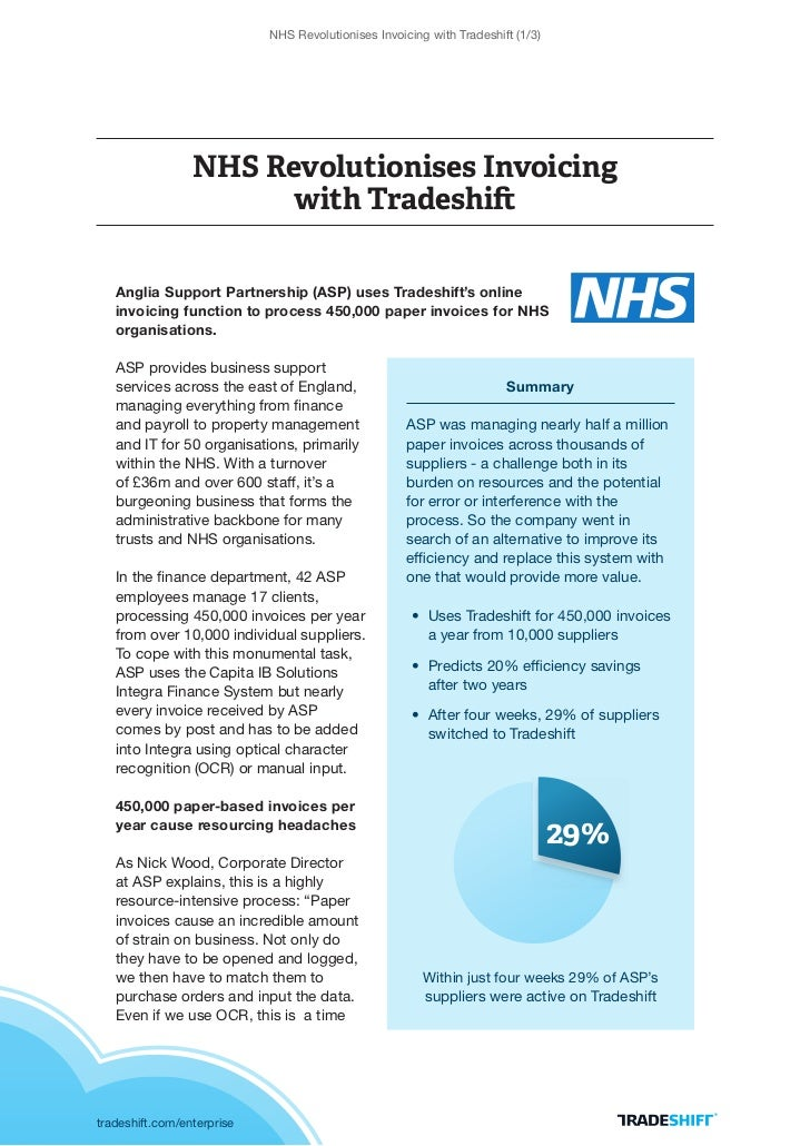 NHS Revolutionises Invoicing with Tradeshift (1/3)                 NHS Revolutionises Invoicing                       with...