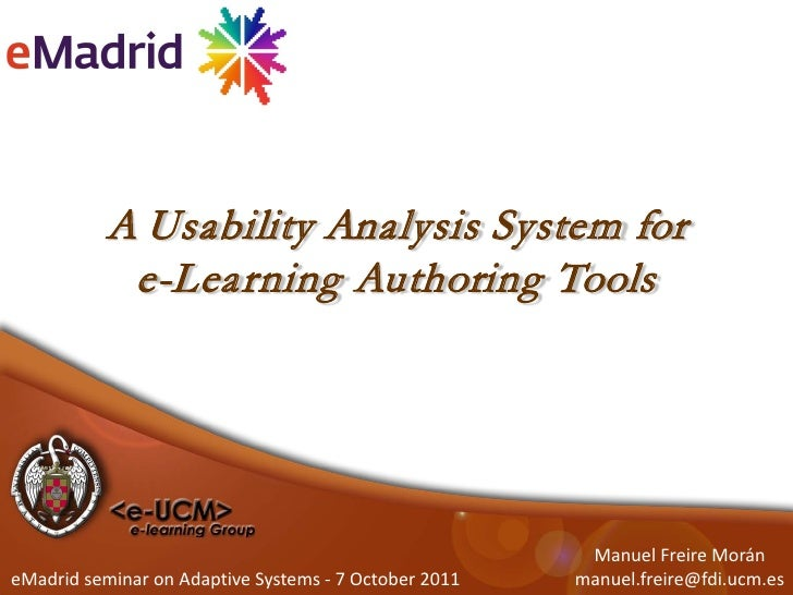 A Usability Analysis System for            e-Learning Authoring Tools                                                     ...