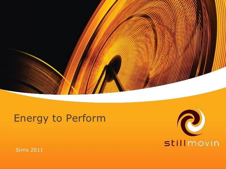 Energy toKlik om           Performtoevoegen titel Sirris 2011