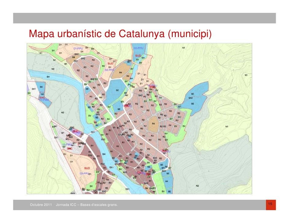 Mapa Urbanístic De Catalunya.Bases En Planejament Urbanistic