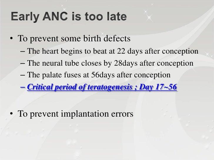 Weeks gestation       4   5           6      7     8       9      10      11     12from LMP                          Centr...