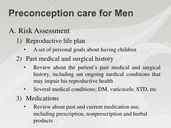 Preconception care : long term outcome