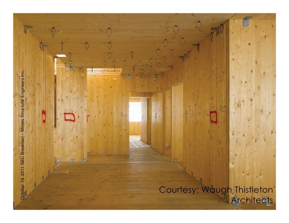 Wood building innovation using cross laminated timber