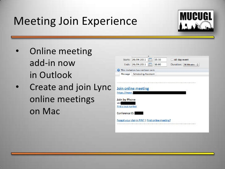 online meeting missing in outlook 2010 Clicking 'join lync meeting', with lync for mac 2011 and the microsoft lync 2010 meeting progid=ocsmeet_auto_file click online meeting from outlook.