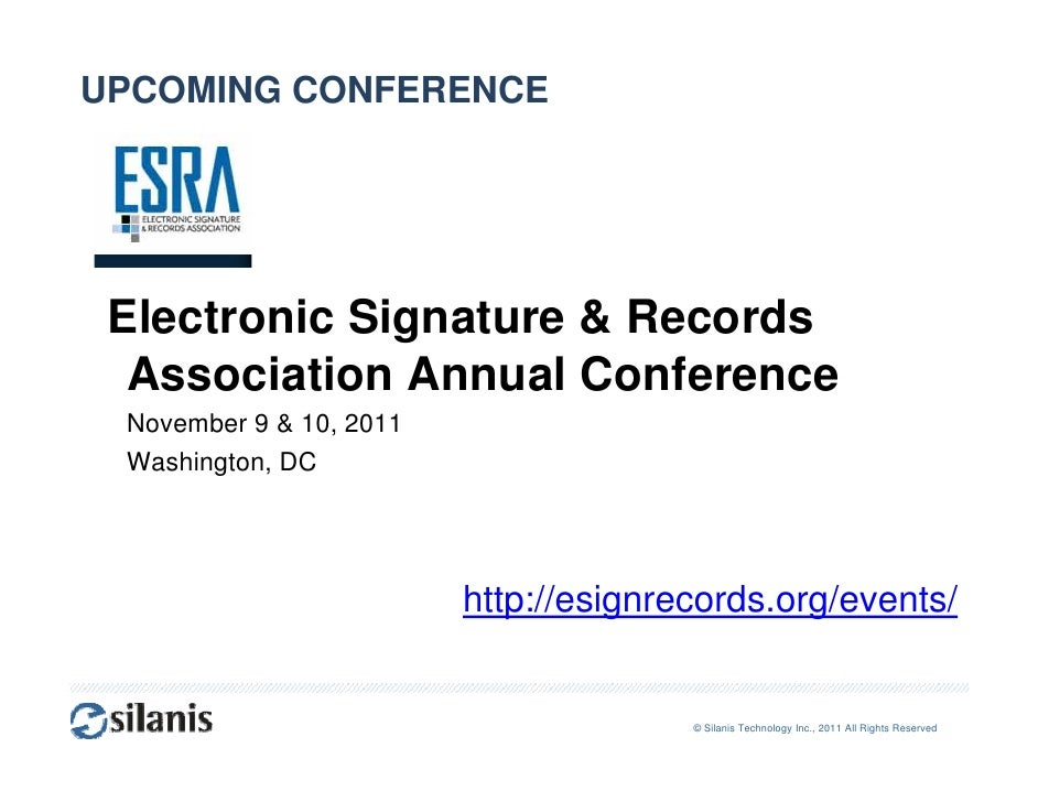 E-Signature Webcast for Financial Services Legal Counsel