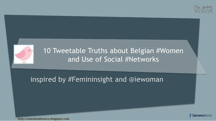 10 Tweetable Truths about Belgian #Women                       and Use of Social #Networks        inspired by #Femininsigh...
