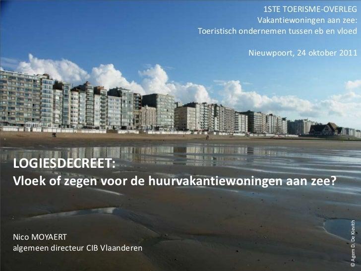 1STE TOERISME-OVERLEG                                                    Vakantiewoningen aan zee:                        ...