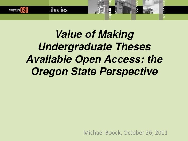 oregon state uhc thesis