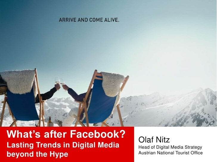 What's after Facebook?            Olaf NitzLasting Trends in Digital Media   Head of Digital Media Strategybeyond the Hype...