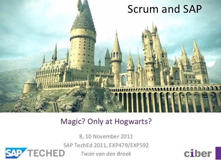 Scrum and SAP Magic? Only at Hogwarts?           8, 10 November 2011  SAP TechEd 2011, EXP479/...