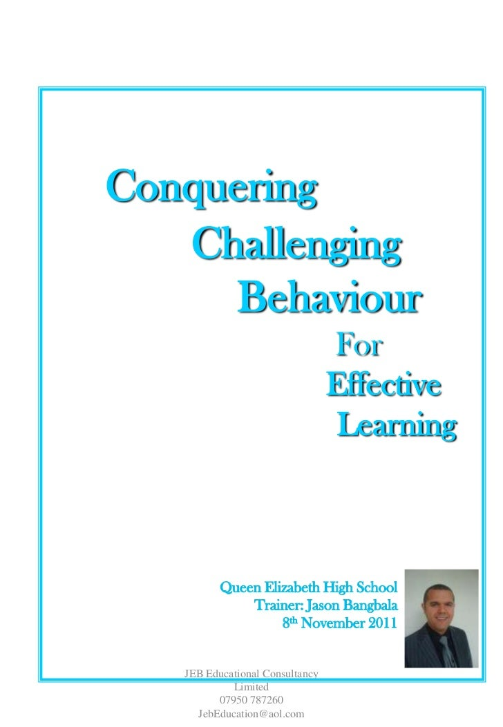 Conquering   Challenging     Behaviour                                 For                                 Effective      ...