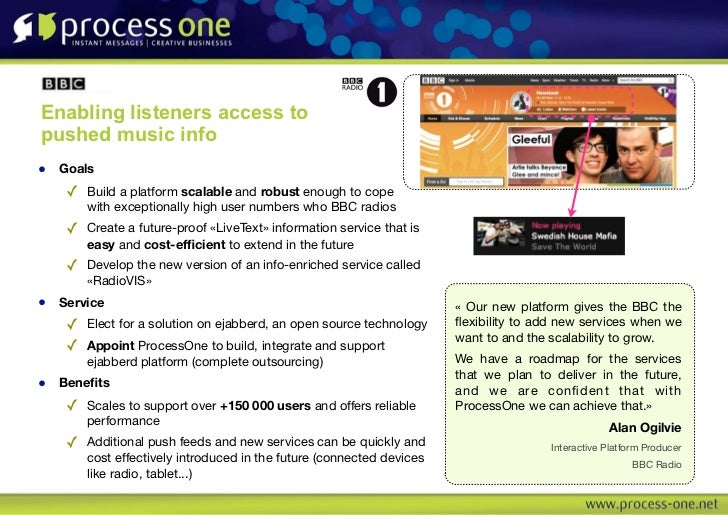 Enabling listeners access topushed music info• Goals   ✓ Build a platform scalable and robust enough to cope        with e...