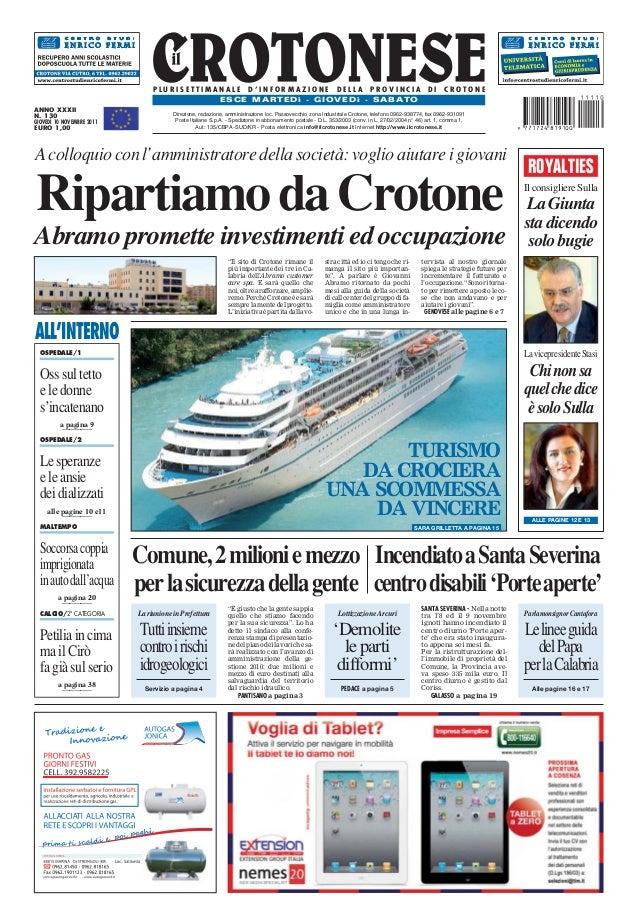 PLURISETTIMANALE D'INFORMAZIONE DELLA PROVINCIA                                                                  DI     CR...