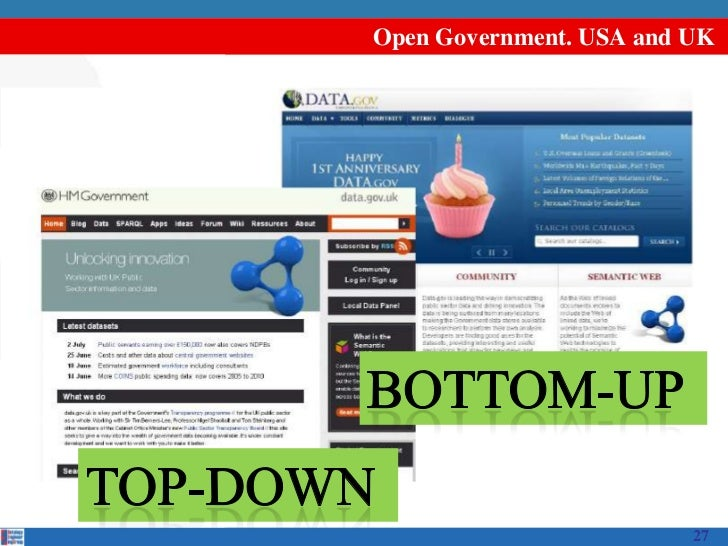 Open Government. USA and UK                         27