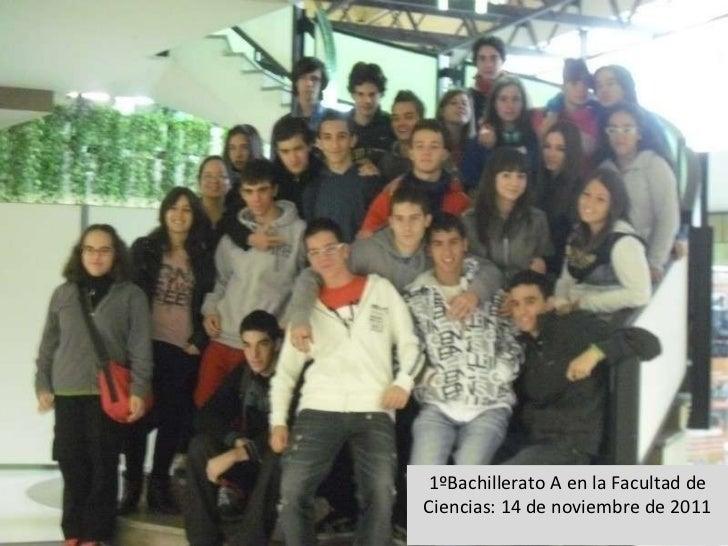 1ºBachillerato A en la Facultad de Ciencias: 14 de noviembre de 2011