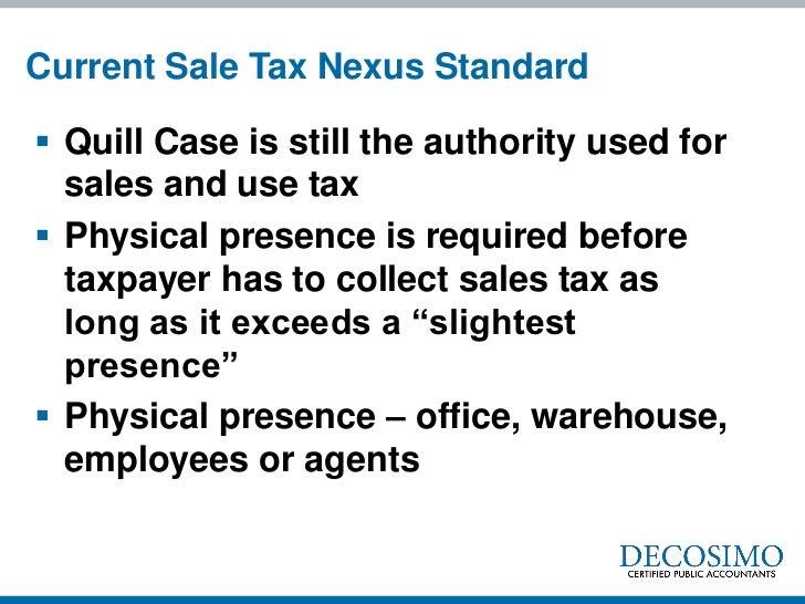 Nexus and Jurisdiction: I Owe Taxes Where?