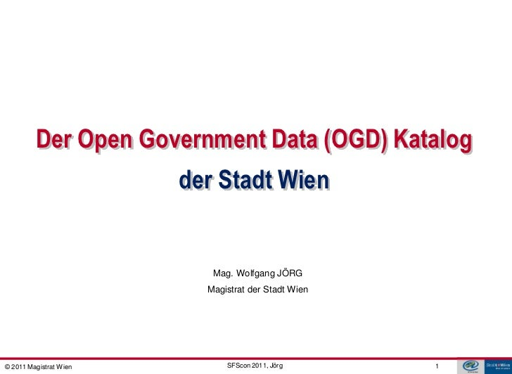 GDI - ViennaGIS®         Der Open Government Data (OGD) Katalog                        der Stadt Wien                     ...