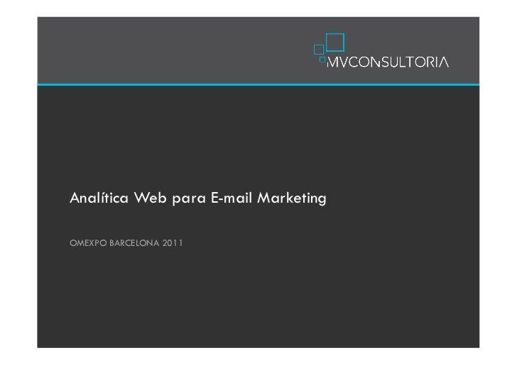 Analítica Web para E-mail MarketingOMEXPO BARCELONA 2011