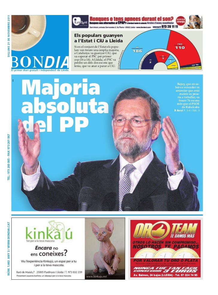 dilluNs 21 dE NoVEmbRE 2011                                                 Els populars guanyen                          ...