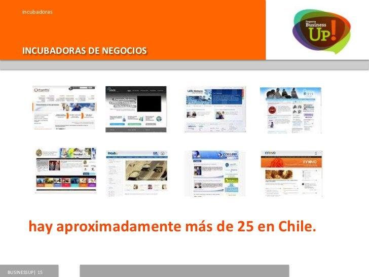 Incubadoras      SECTORES EN LOS QUE PARTICIPANBUSINESSUP   16