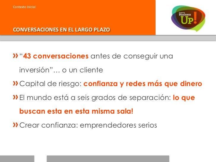 """Contexto InicialCONVERSACIONES EN EL LARGO PLAZO    """"43 conversaciones antes de conseguir una    inversión""""… o un cliente ..."""