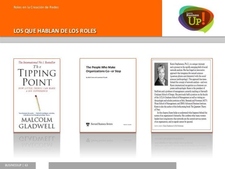 Roles en la Creación de Redes        Malcolm Gladwell                                   Rob Cross y                       ...