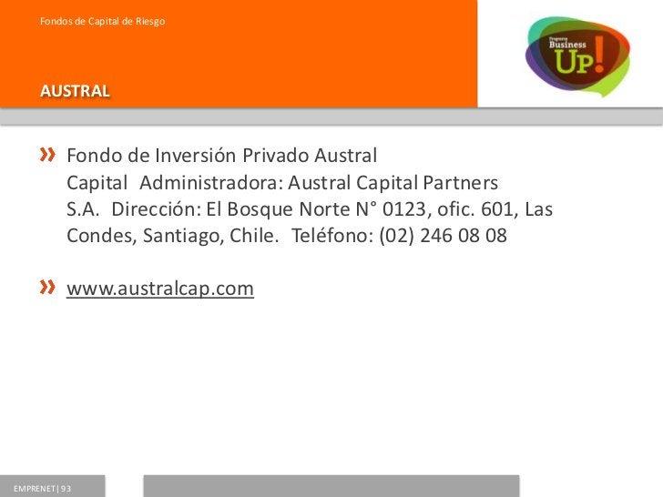 Fondos de Capital de Riesgo     ZEUS           Tridente Fondo de Inversión PrivadoAdministradora: Zeus           Capital ...
