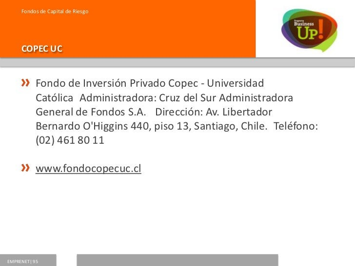 Fondos de Capital de Riesgo     EQUITAS           Medio Ambiente I Fondo de Inversión           PrivadoAdministradora: Eq...