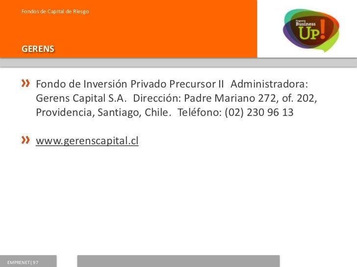 Fondos de Capital de Riesgo     AURUS           Aurus Bios Fondo de Inversión PrivadoAdministradora:           Administra...