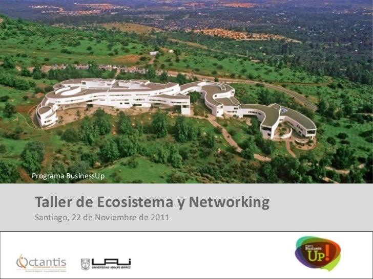 Programa BusinessUp Taller de Ecosistema y Networking Santiago, 22 de Noviembre de 2011Diseñado especialmente para: