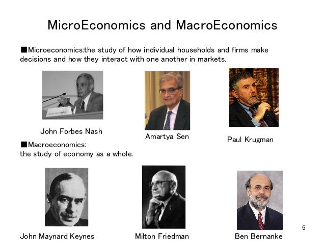the questions macroeconomics microeconomics Second, the economic policy questions that most directly impinge on the day-to- day welfare of billions of people are macroeconomic, not microeconomic.