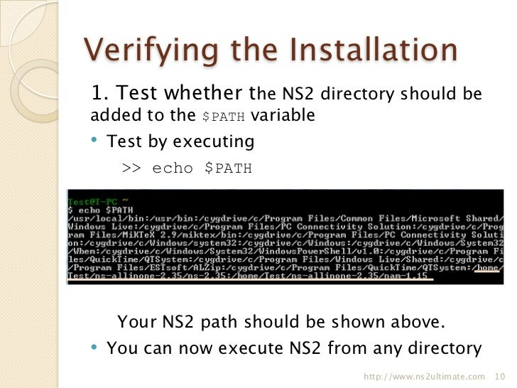 ns2 installation When the installation of nstar is finished you would need to log into nstar and click on  thank you for registering nstar.