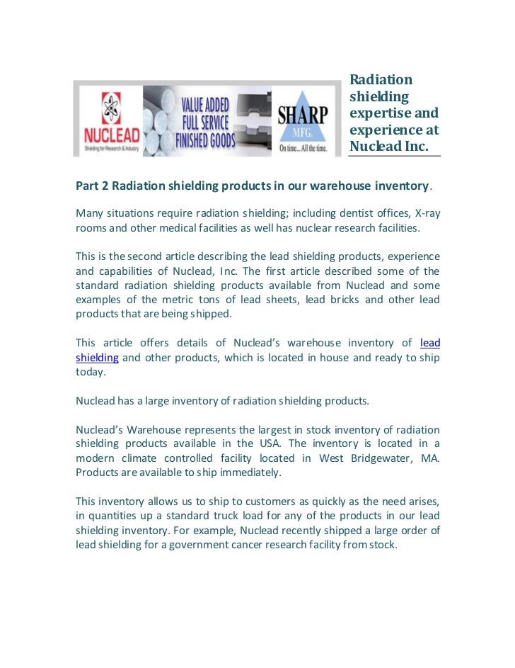 Radiation                                                         shielding                                               ...