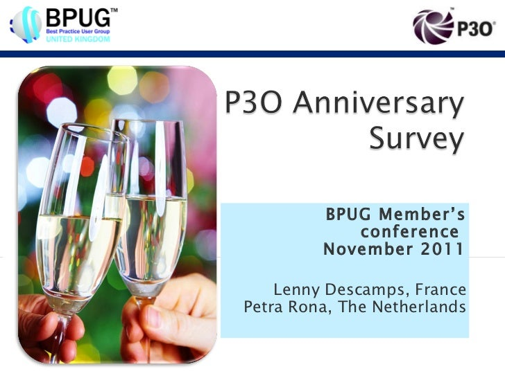 BPUG Member's conference  November 2011 Lenny Descamps, France Petra Rona, The Netherlands